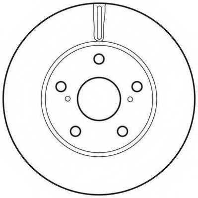 Тормозной диск JURID 562623JC - изображение