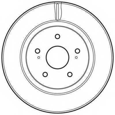 Тормозной диск JURID 562632JC - изображение