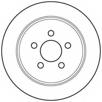 Тормозной диск JURID 562656JC - изображение