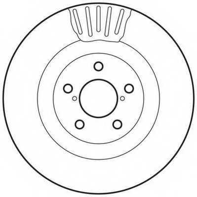 Тормозной диск JURID 562677JC - изображение