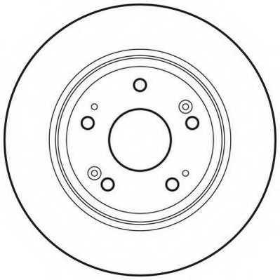 Тормозной диск JURID 562687JC - изображение