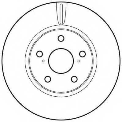 Тормозной диск JURID 562689JC - изображение