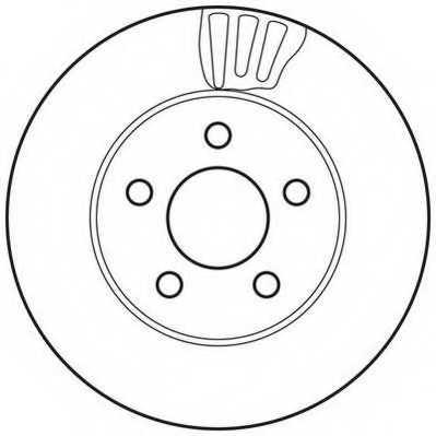 Тормозной диск JURID 562709JC - изображение