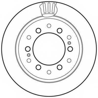 Тормозной диск JURID 562738JC - изображение