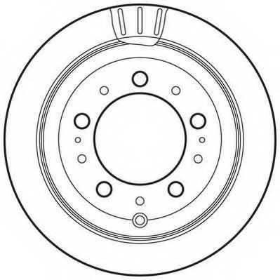 Тормозной диск JURID 562744JC - изображение