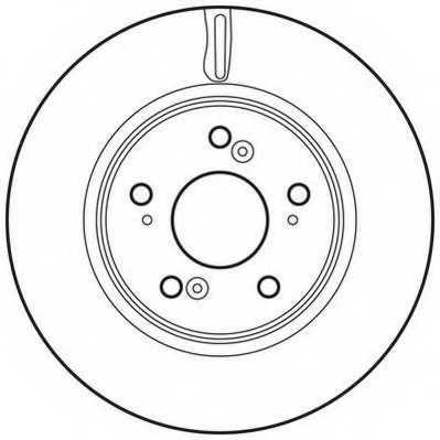 Тормозной диск JURID 562746JC - изображение