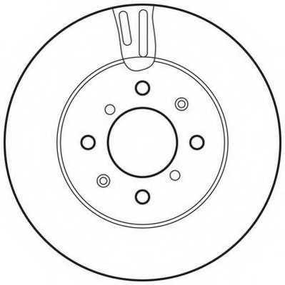 Тормозной диск JURID 562754JC - изображение