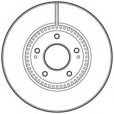 Тормозной диск JURID 562755JC - изображение