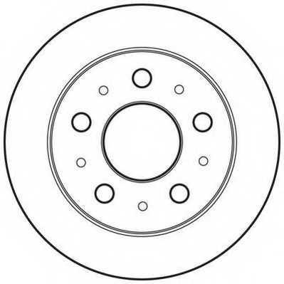 Тормозной диск JURID 562757JC - изображение