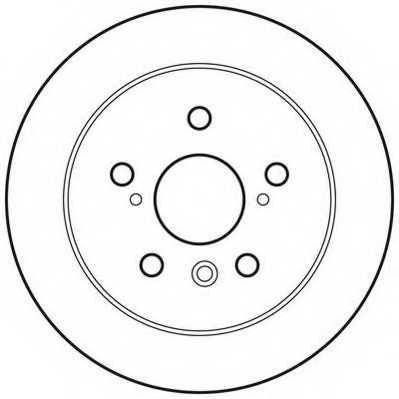 Тормозной диск JURID 562770JC - изображение