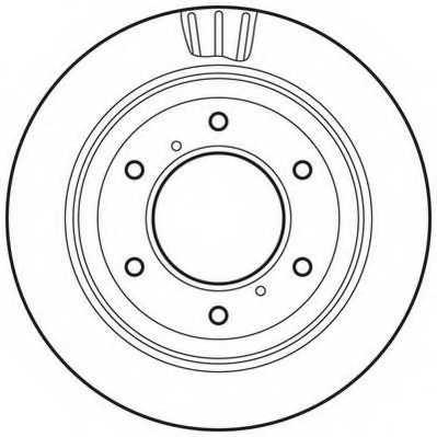 Тормозной диск JURID 562777JC - изображение