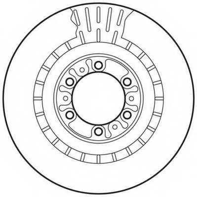 Тормозной диск JURID 562798JC - изображение