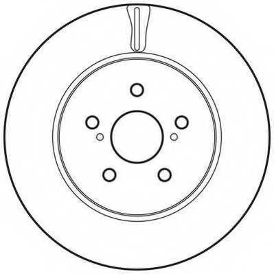 Тормозной диск JURID 562824JC - изображение
