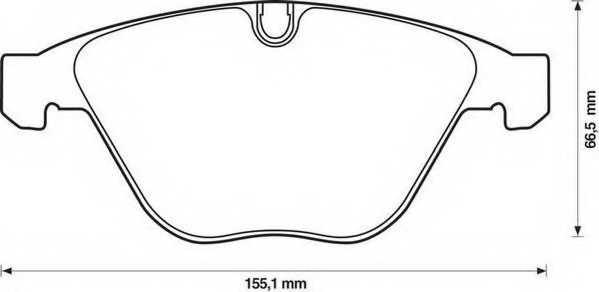 Колодки тормозные дисковые JURID 571990J - изображение