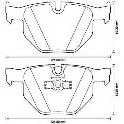 Колодки тормозные дисковые задний для BMW 5(E60,E61), 6(E63,E64) <b>JURID 573224JC</b> - изображение
