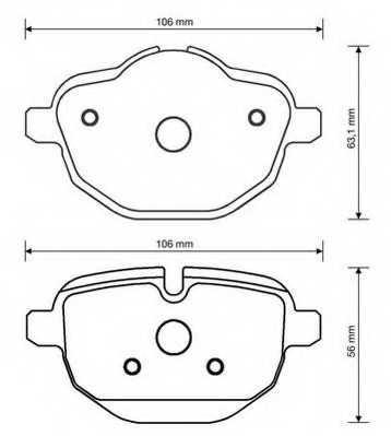 Колодки тормозные дисковые JURID 573352J - изображение