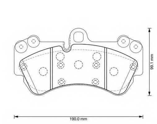 Колодки тормозные дисковые JURID 573376J - изображение