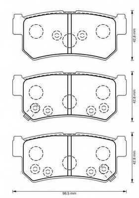 Колодки тормозные дисковые JURID 573377J - изображение