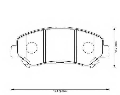 Колодки тормозные дисковые JURID 573379J - изображение