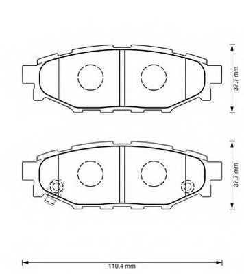 Колодки тормозные дисковые JURID 573380J - изображение