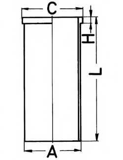 Гильза цилиндра KOLBENSCHMIDT 89048190 - изображение