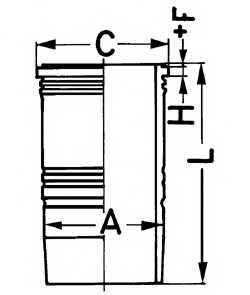 Гильза цилиндра KOLBENSCHMIDT 89180110 - изображение