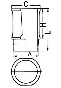 Гильза цилиндра KOLBENSCHMIDT 89301110 - изображение