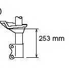 Амортизатор передний правый для NISSAN ALMERA(N15) <b>KYB Excel-G 333238</b> - изображение