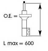 Амортизатор передний правый для MAZDA 626(GD,GV) <b>KYB Excel-G 334039</b> - изображение