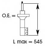 Амортизатор передний правый для TOYOTA RAV 4(SXA1#) <b>KYB Excel-G 334251</b> - изображение