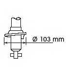 Амортизатор задний для NISSAN ALMERA(N15) <b>KYB Excel-G 341186</b> - изображение