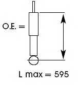 Амортизатор задний для TOYOTA RAV 4(SXA1#) <b>KYB Excel-G 343313</b> - изображение