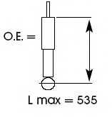 Амортизатор задний <b>KYB Ultra SR 353018</b> - изображение