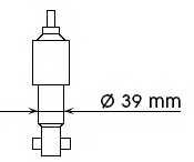 Амортизатор KYB 553170 - изображение