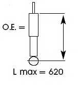 Амортизатор задний для TOYOTA RAV 4(ACA2#, CLA2#, SXA1#, XA2#, ZCA2#) <b>KYB Gas A Just 553195</b> - изображение
