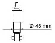 Амортизатор передний для FORD MAVERICK(UDS,UNS) / NISSAN TERRANO(R20,WD21) <b>KYB Gas A Just 554070</b> - изображение