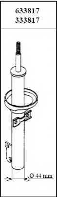Амортизатор передний для FORD FIESTA(F3L,F5L,GFJ) <b>KYB Premium 633817</b> - изображение