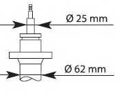 Амортизатор передний для CITROEN JUMPER / FIAT DUCATO / PEUGEOT BOXER <b>KYB Premium 635806</b> - изображение