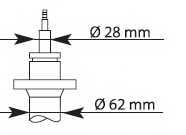 Амортизатор передний для CITROEN JUMPER / FIAT DUCATO / PEUGEOT BOXER <b>KYB Premium 635807</b> - изображение