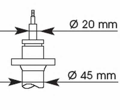 Амортизатор передний для BMW 3(E30) <b>KYB Premium 663500</b> - изображение