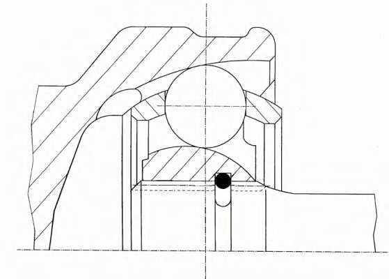 Шарнирный комплект приводного вала LOBRO 302186 - изображение 1