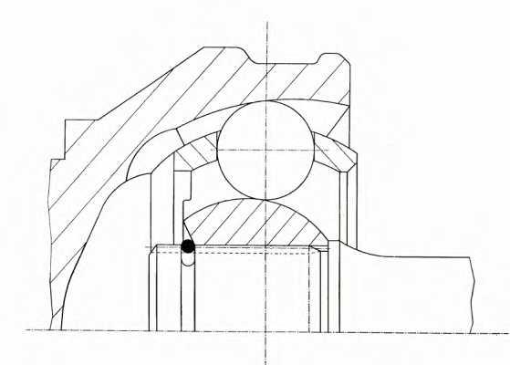 Шарнирный комплект приводного вала LOBRO 303540 - изображение 1