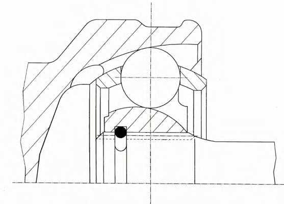 Шарнирный комплект приводного вала LOBRO 303743 - изображение 1