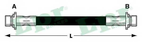 Тормозной шланг LPR 6T48027 - изображение