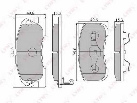 Колодки тормозные дисковые передний для DAIHATSU MOVE(L6#,L9#), SIRION(M1), YRV(M2) / MITSUBISHI L 200(K6#T,K7#T) <b>LYNXauto BD-2401</b> - изображение