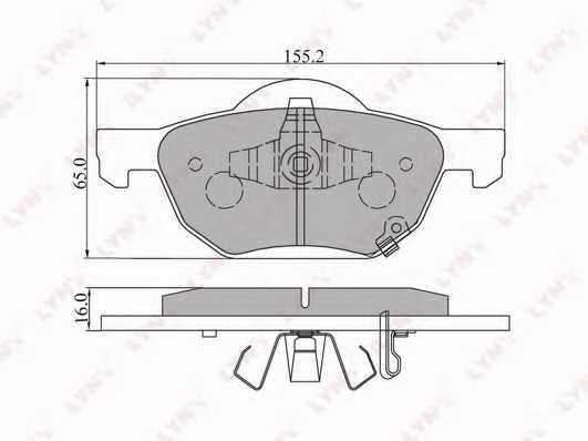 Колодки тормозные дисковые передний для HONDA ACCORD(CF,CL,CM) <b>LYNXauto BD-3413</b> - изображение
