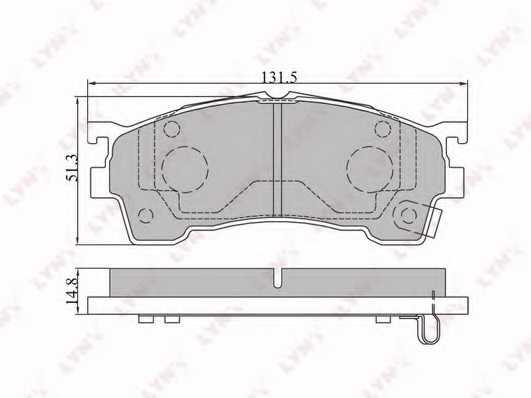 Колодки тормозные дисковые передний для MAZDA 626(GE,GF), MX-6(GE), PREMACY(CP), XEDOS 6(CA) <b>LYNXauto BD-5101</b> - изображение