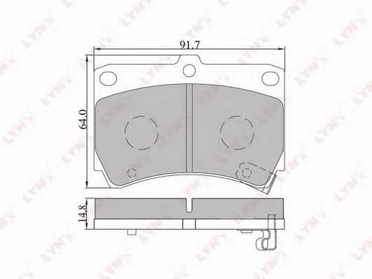 Колодки тормозные дисковые передний для KIA AVELLA, RIO / MAZDA 121, 2, 323 F, 323 P, 323, DEMIO, FAMILIA, FESTIVA <b>LYNXauto BD-5105</b> - изображение