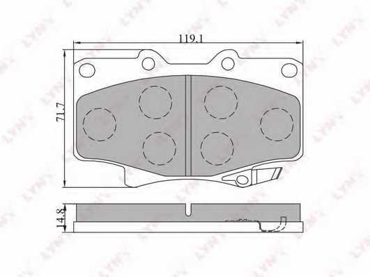 Колодки тормозные дисковые передний для TOYOTA 4 RUNNER, HILUX, LAND CRUISER <b>LYNXauto BD-7504</b> - изображение