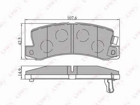 Колодки тормозные дисковые задний для LEXUS ES / TOYOTA CAMRY, CARINA E, CARINA, CELICA, CORONA, HARRIER <b>LYNXauto BD-7521</b> - изображение